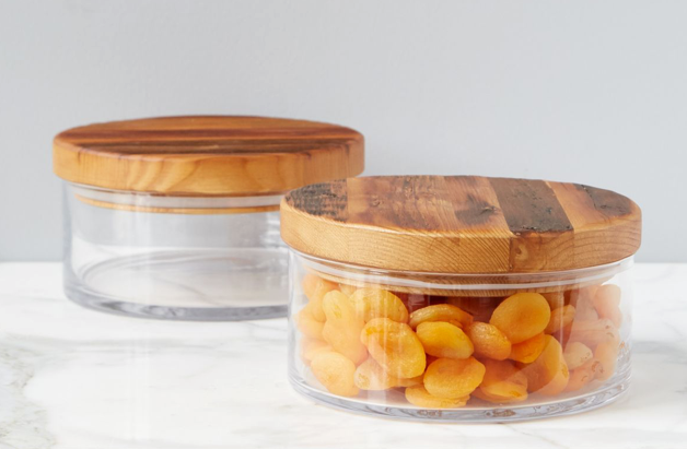 Wood Top Canister - Medium