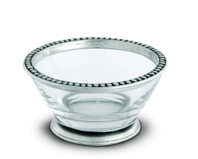 Pewter Beaded Rim Bowl Large