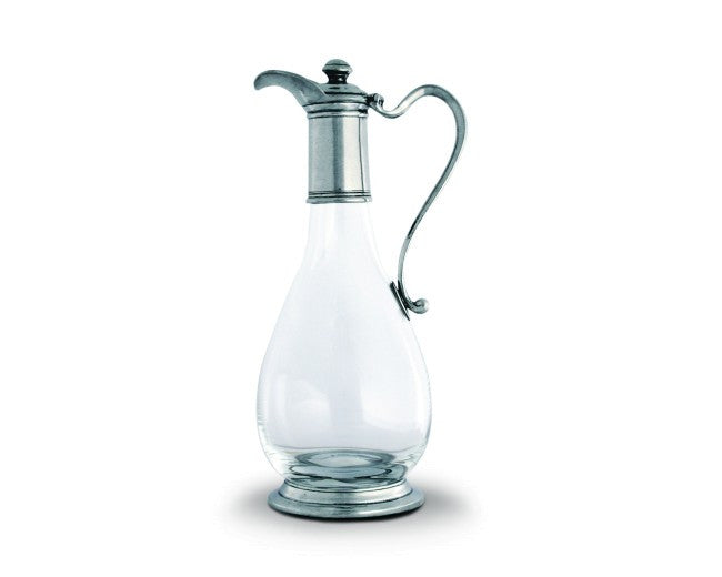 Classic Pewter & Glass Wine Decanter