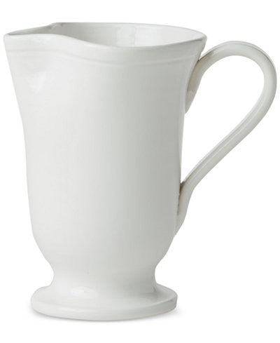 Fresh Large Footed Pitcher, White