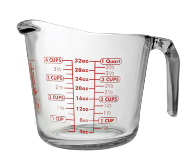 Glass Measuring Cup, 4 Cups