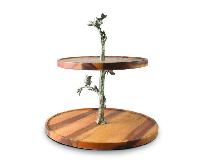 Song Bird Two Tier Cheese Stand