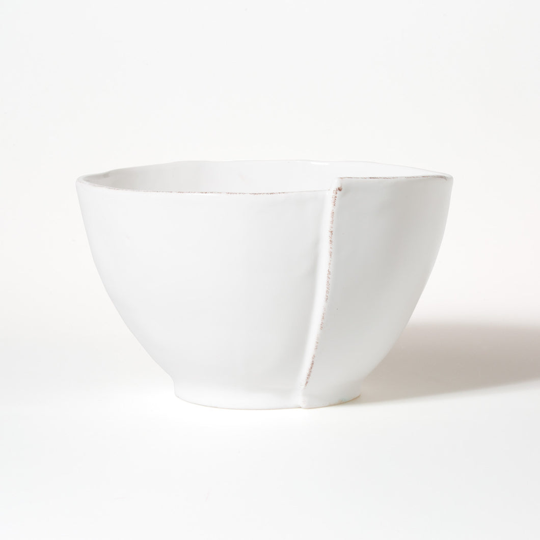 Lastra Deep White Serving Bowl
