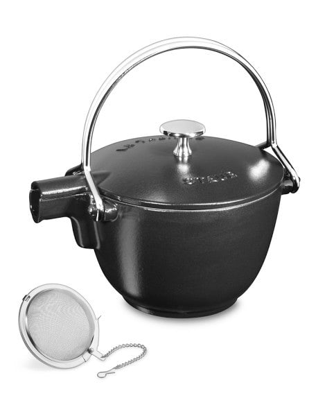 Round Tea Kettle, Matte Black