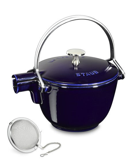 Round Tea Kettle, Dark Blue