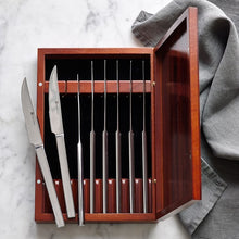 8 Piece Stainless Steak Set w/ Wood Box