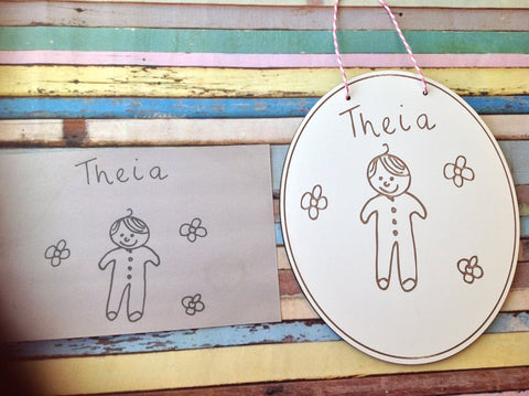 Theia drawing plaque