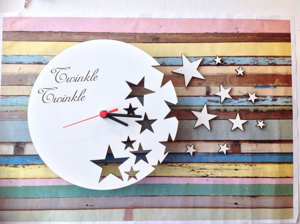 Twinkle Twinkle infinity star clock - Fred And Bo