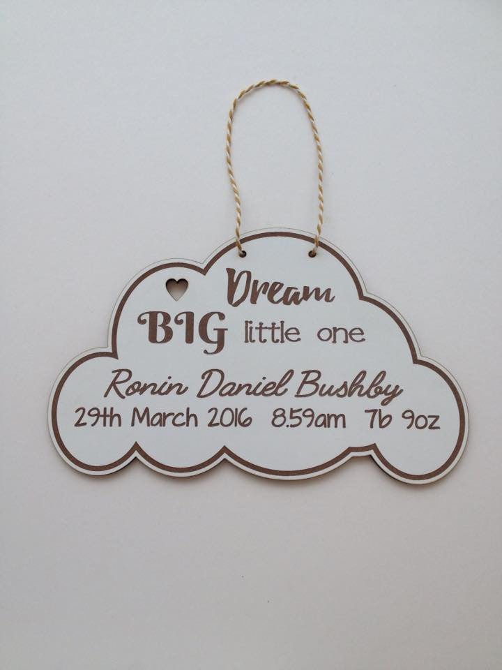 Baby Cloud personalised baby gift - Fred And Bo
