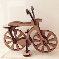 Bike - laser cut wooden 3D bicycle - Fred And Bo