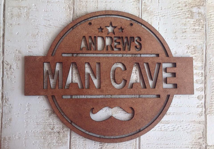 Mancave wooden sign gift for him - Fred And Bo