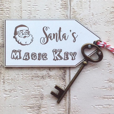 Santa's Magic Key laser engraved and laser cut - Fred And Bo