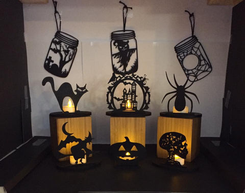 Set of halloween tea light holders - Fred And Bo