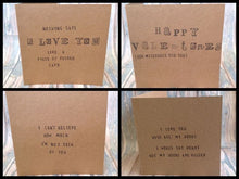 "Hand stamped card ""Our first valentines as mr & mrs"" valentine - Fred And Bo"