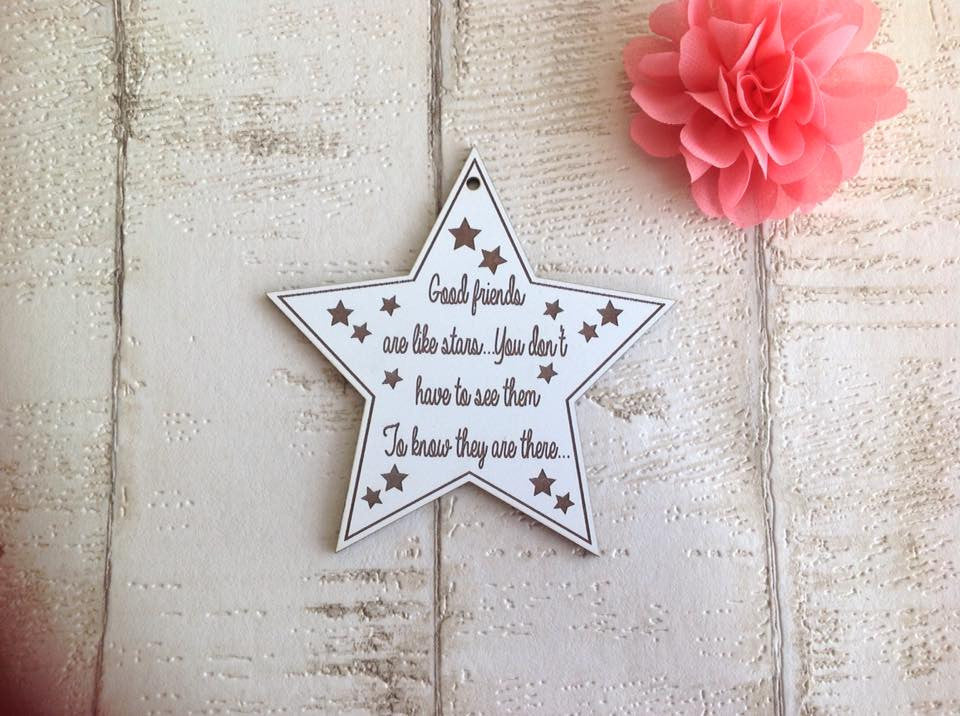 Friends are like stars hanging star decoration - Fred And Bo