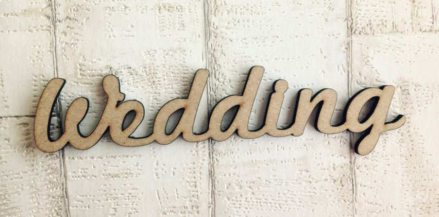 Wedding wooden word craft blank - Fred And Bo