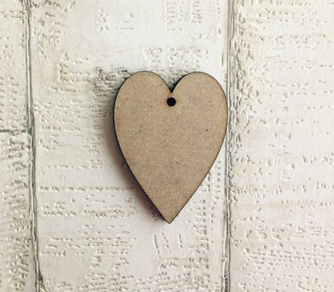 Vintage heart 1 hole wood heart shapes hanging decoration blank - Fred And Bo