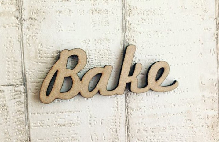 Bake wooden word craft blank - Fred And Bo
