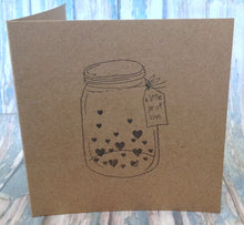 "Hand stamped card ""Little jar of hope"" valentine - Fred And Bo"