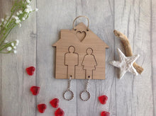 His and Hers wooden house key holder - Fred And Bo
