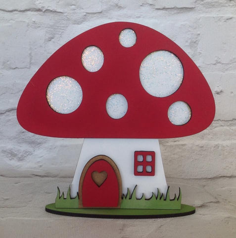 Toadstool mushroom fairy house laser cut nursery decor - Fred And Bo