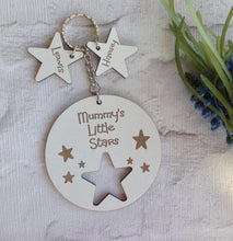 Personalised Star key ring with Star charm- White - Fred And Bo