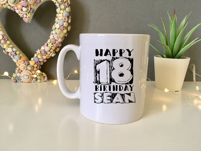 18th Birthday Personalised - ceramic mug- Travel mug - Water Bottle