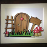 Fairy door - wooden hand painted minature door - Fred And Bo