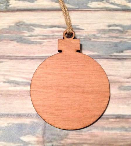 Bauble - wooden craft shapes / Christmas shape decorations 8cm - Fred And Bo