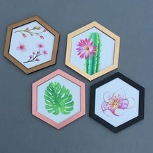 Hexagon wall art tile- cherry blossom 1 - Fred And Bo