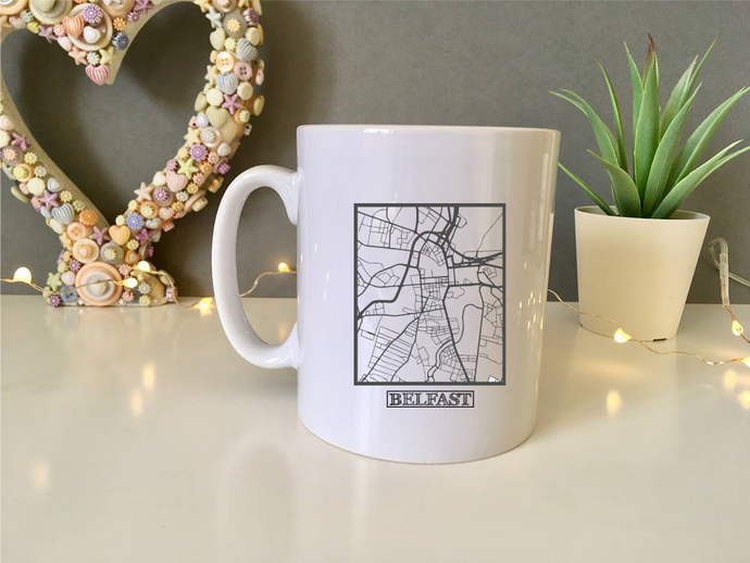 Belfast Map ceramic mug