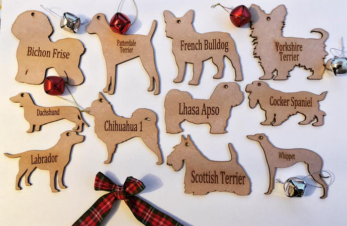 Personalised Dog Decoration - Dachshund long hair - Fred And Bo
