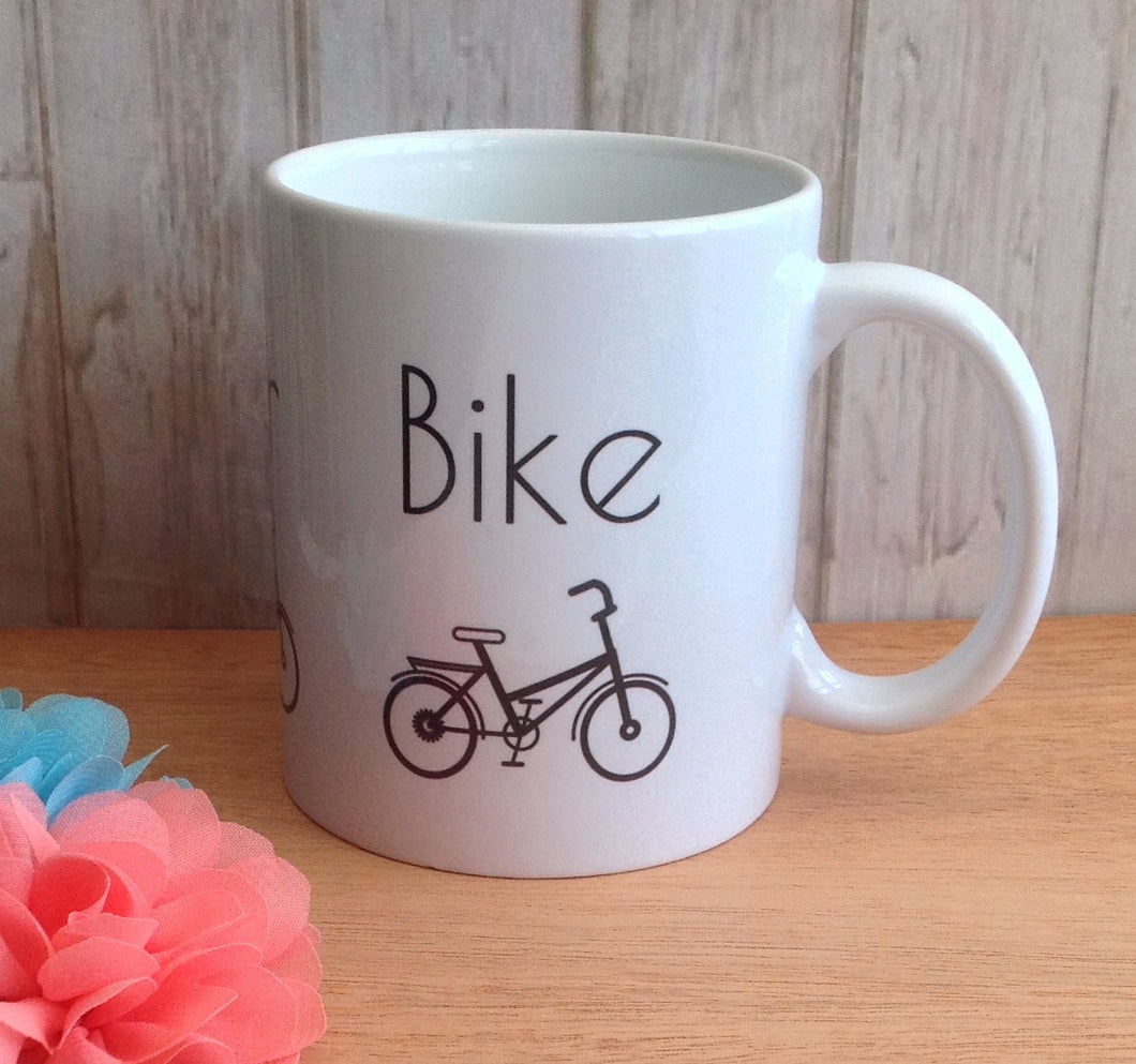 On yer Bike ceramic mug bicycle cycling - Fred And Bo