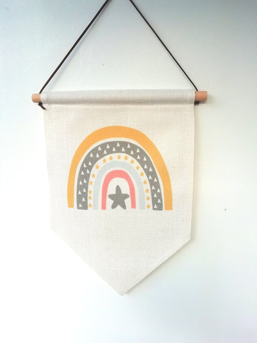 Hanging Banner Flag- Rainbow Star - Fred And Bo