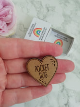 Pocket Hug in a box- MDF heart - Fred And Bo