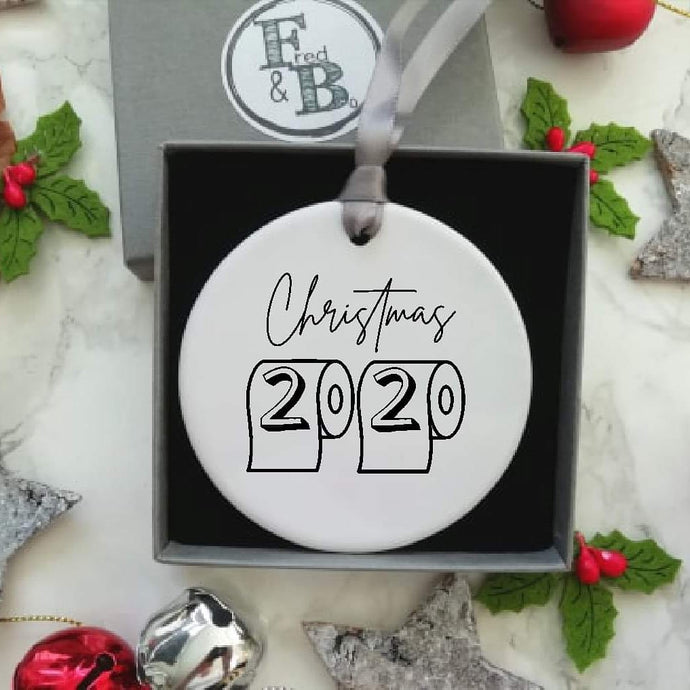 Christmas 2020 Loo Roll Ceramic Hanging Decoration