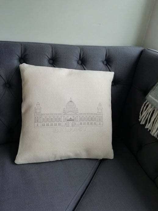 Belfast City Hall printed cushion