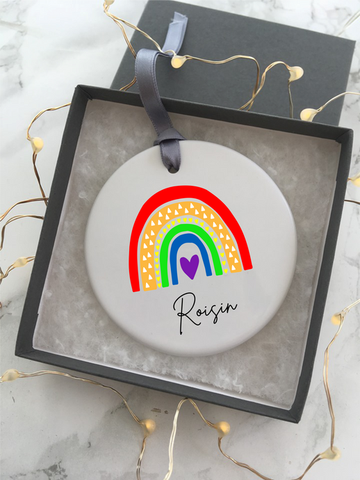 Ceramic Rainbow Hanging Decoration - Fred And Bo