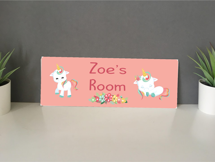 Unicorn personalised hanging door sign - Fred And Bo