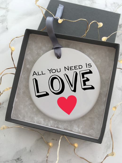 All you need is LOVE - Ceramic Hanging Decoration - Fred And Bo