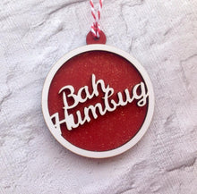 Bah Humbug bauble- Christmas decoration - Fred And Bo