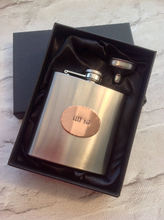 Hip flask- wedding groom gift - best man - hand stamped personalised gift - Fred And Bo