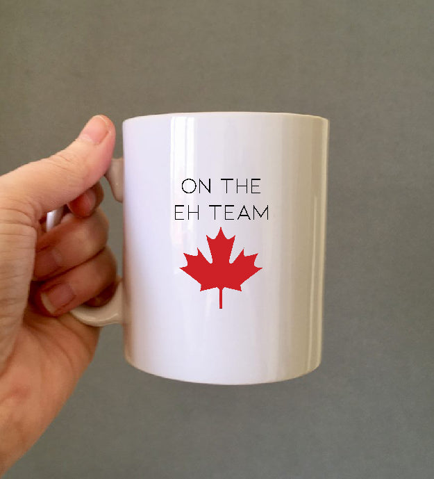 Canadian Flag The Eh Team Ceramic Mug