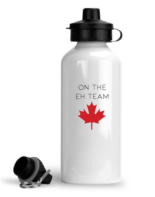 Canadian Flag The Eh Team Aluminium water bottle