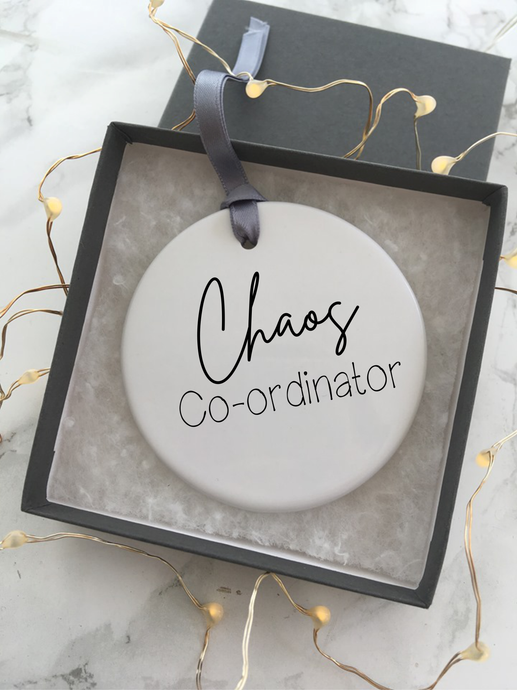 Chaos coordinator - Ceramic Hanging Decoration - Fred And Bo