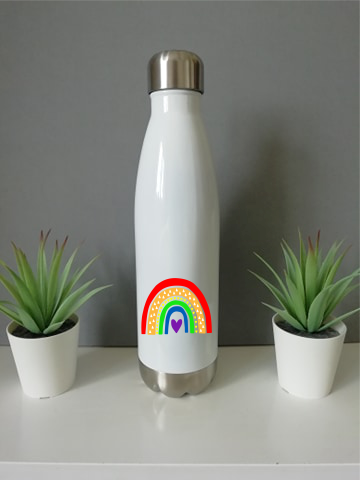 Bright Rainbow Chilly Water Bottle 500ml