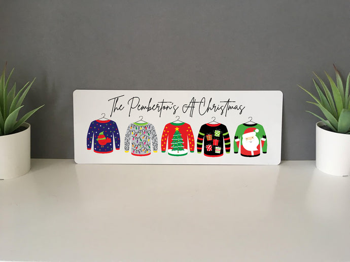 Christmas Ugly Jumper Personalised Sign