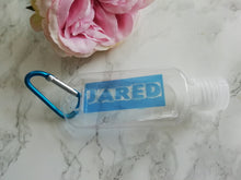 Personalised Hand Sanitiser Bottle 50ml - Colour Block Blue Font - Refill Bottle