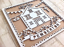 Family home laser cut wall art plaque- personalised - Fred And Bo