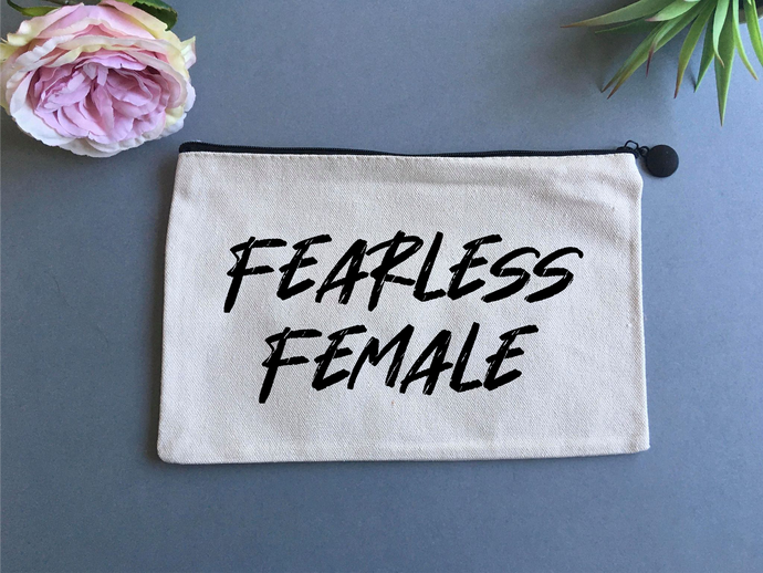 Linen pouch - Fearless Female - Fred And Bo